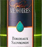 AOP Bordeaux sauvignon Château Mémoires Cuvée 2017