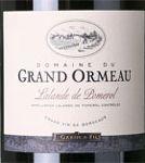 AOC Lalande de Pomerol Domaine du Grand Ormeau Cuvée 2014