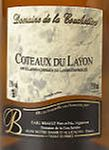 AOP Coteaux du  Layon Domaine de la Couchetière Cuvée 2019